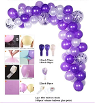 Purple Balloon garland
